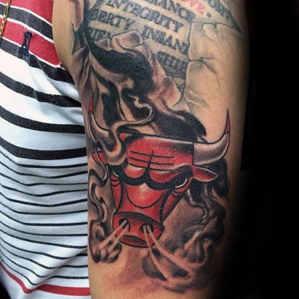 Small Simple Bull Tattoo Designs (104)