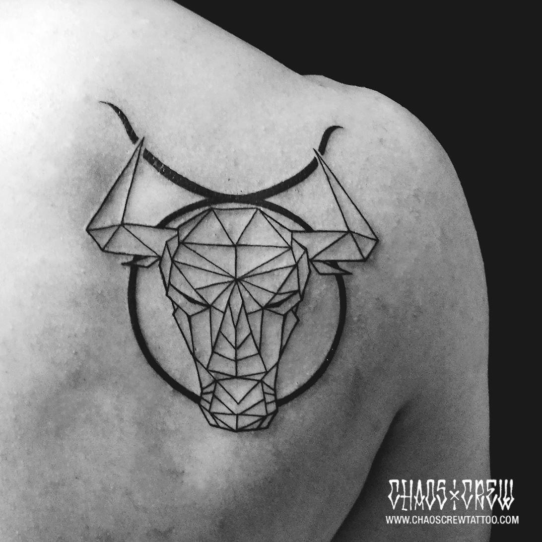 Small Simple Bull Tattoo Designs (122)