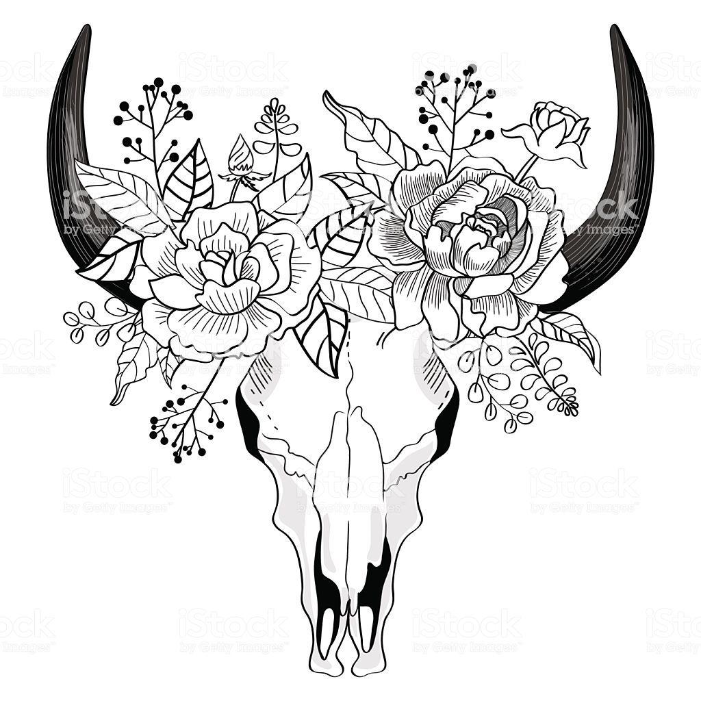 Small Simple Bull Tattoo Designs (134)