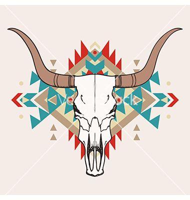 Small Simple Bull Tattoo Designs (147)