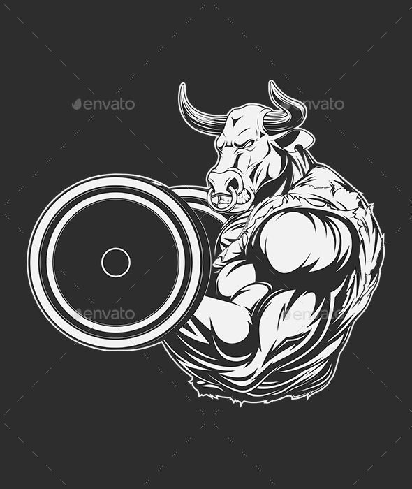 Small Simple Bull Tattoo Designs (149)