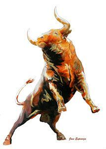Small Simple Bull Tattoo Designs (166)