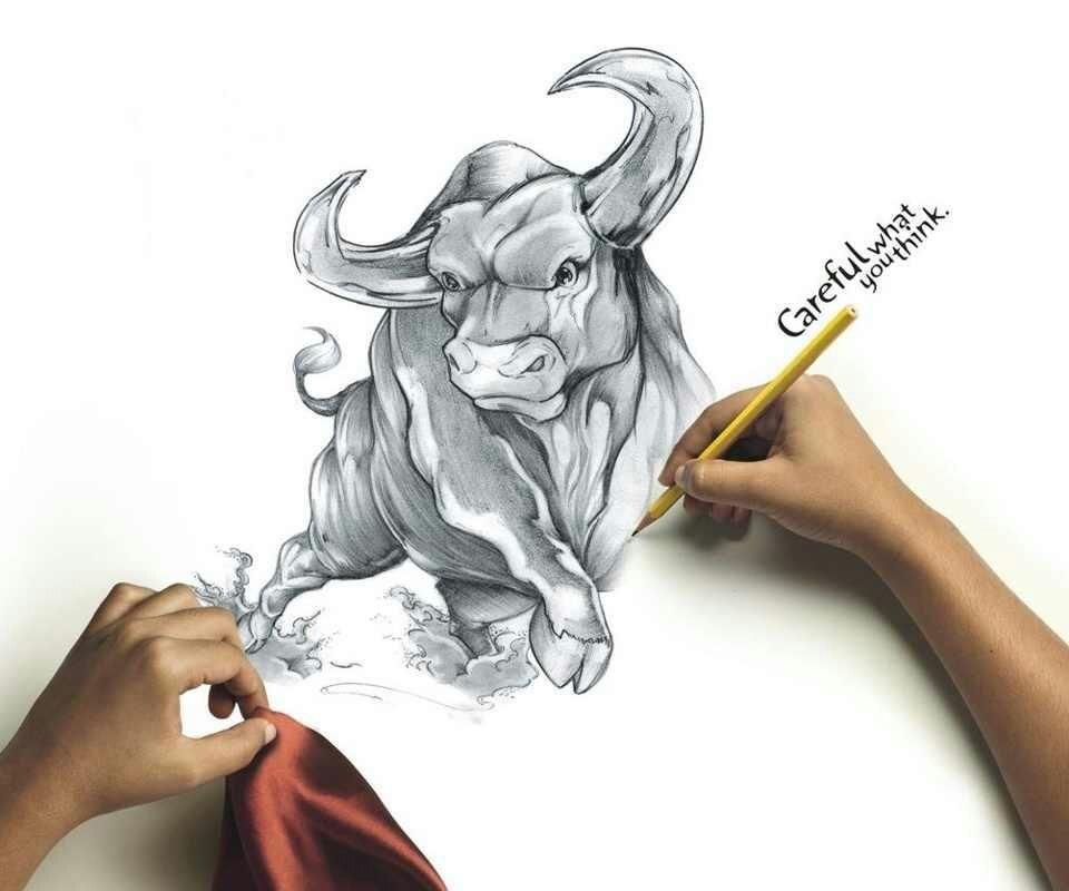 Small Simple Bull Tattoo Designs (173)
