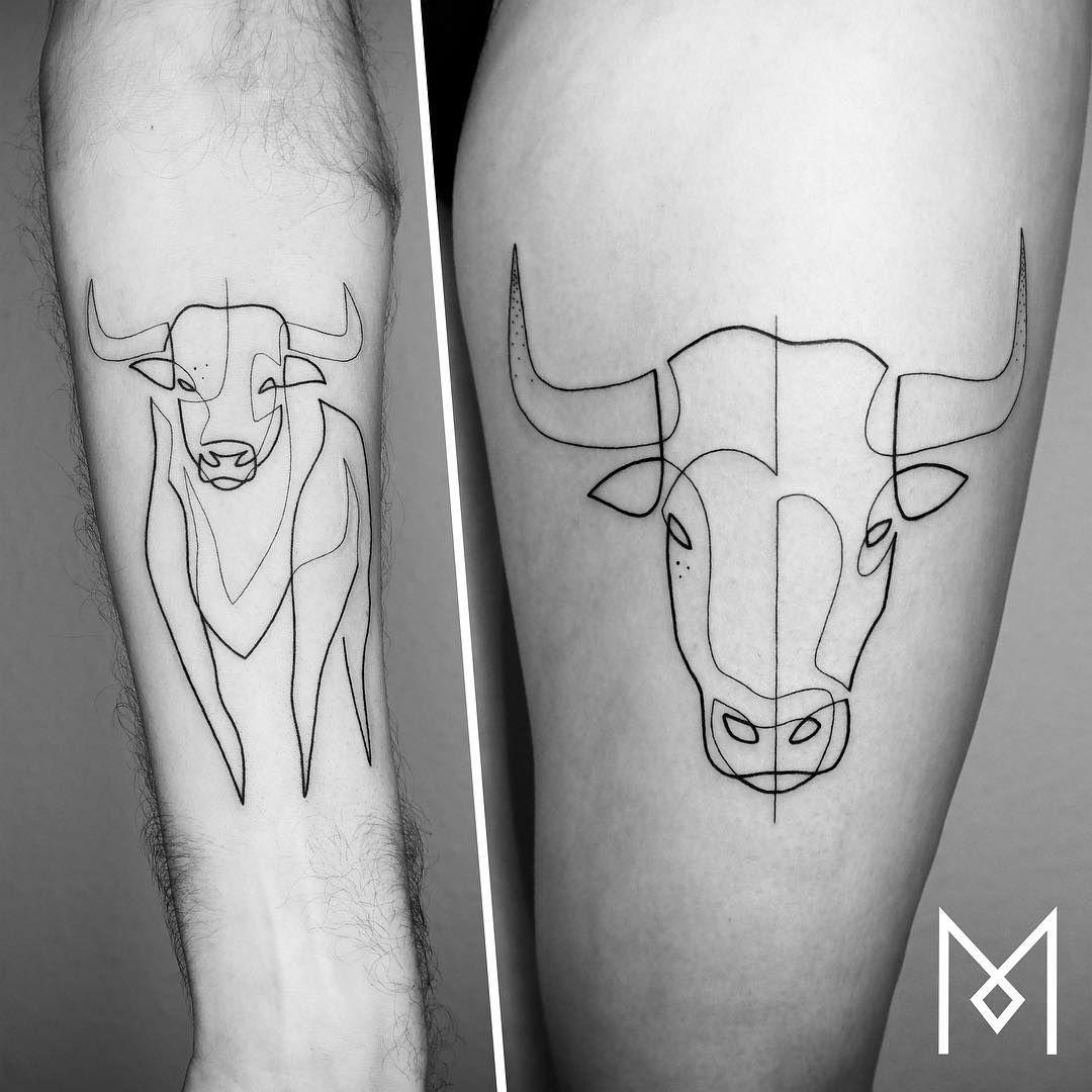 Small Simple Bull Tattoo Designs (193)