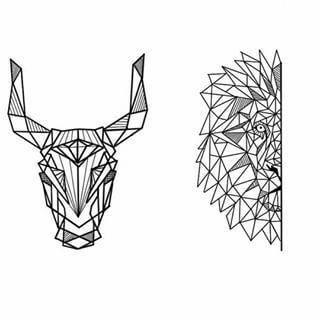 Small Simple Bull Tattoo Designs (194)