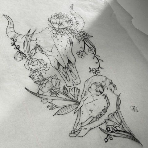Small Simple Bull Tattoo Designs (196)