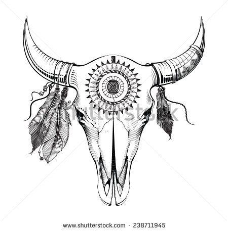 Small Simple Bull Tattoo Designs (202)
