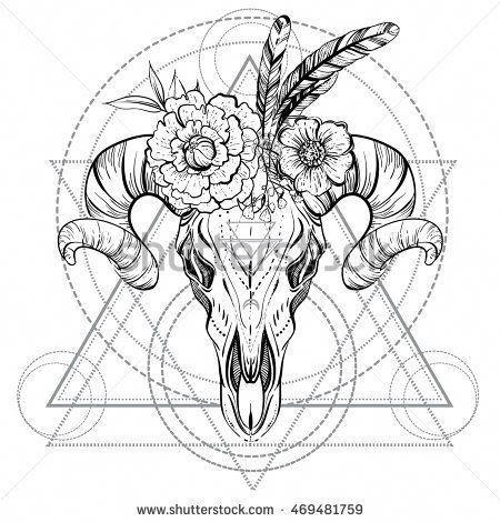 Small Simple Bull Tattoo Designs (210)