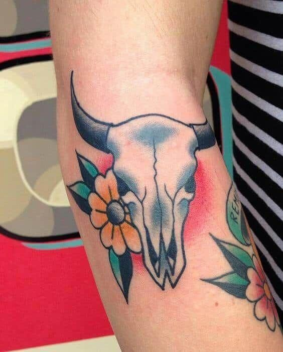 Small Simple Bull Tattoo Designs (216)