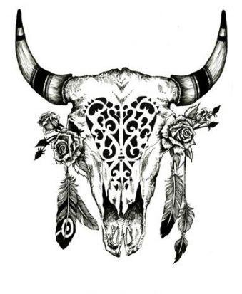 Small Simple Bull Tattoo Designs (217)