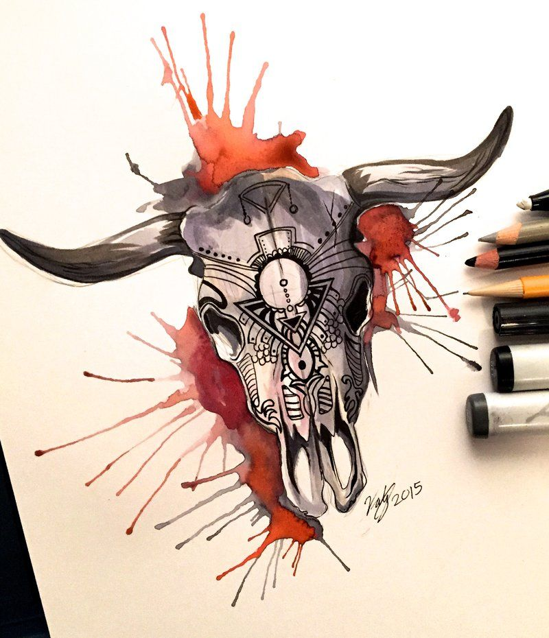 Small Simple Bull Tattoo Designs (34)