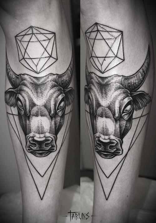 Small Simple Bull Tattoo Designs (61)