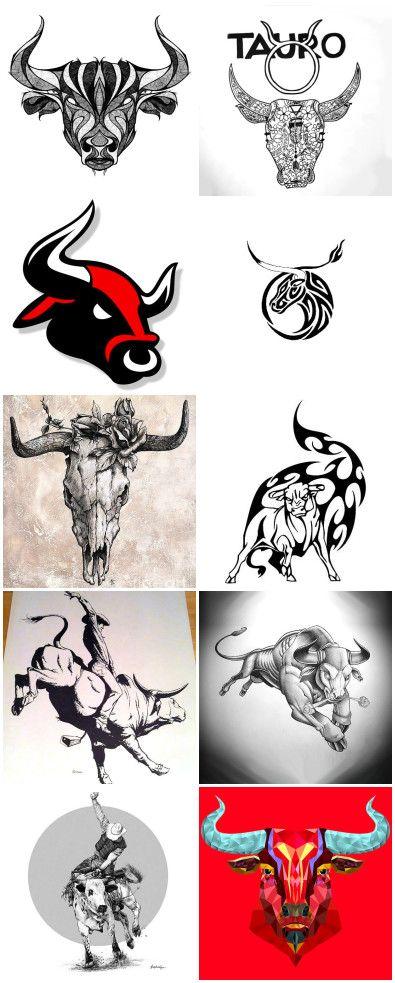 Small Simple Bull Tattoo Designs (68)