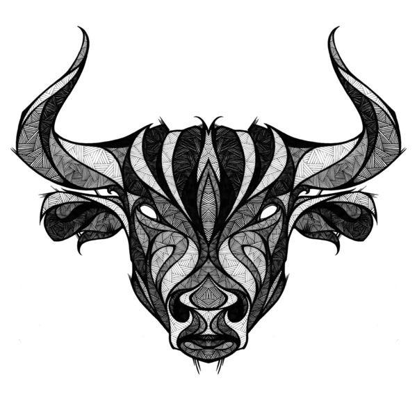 Small Simple Bull Tattoo Designs (84)