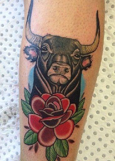 Small Simple Bull Tattoo Designs (96)