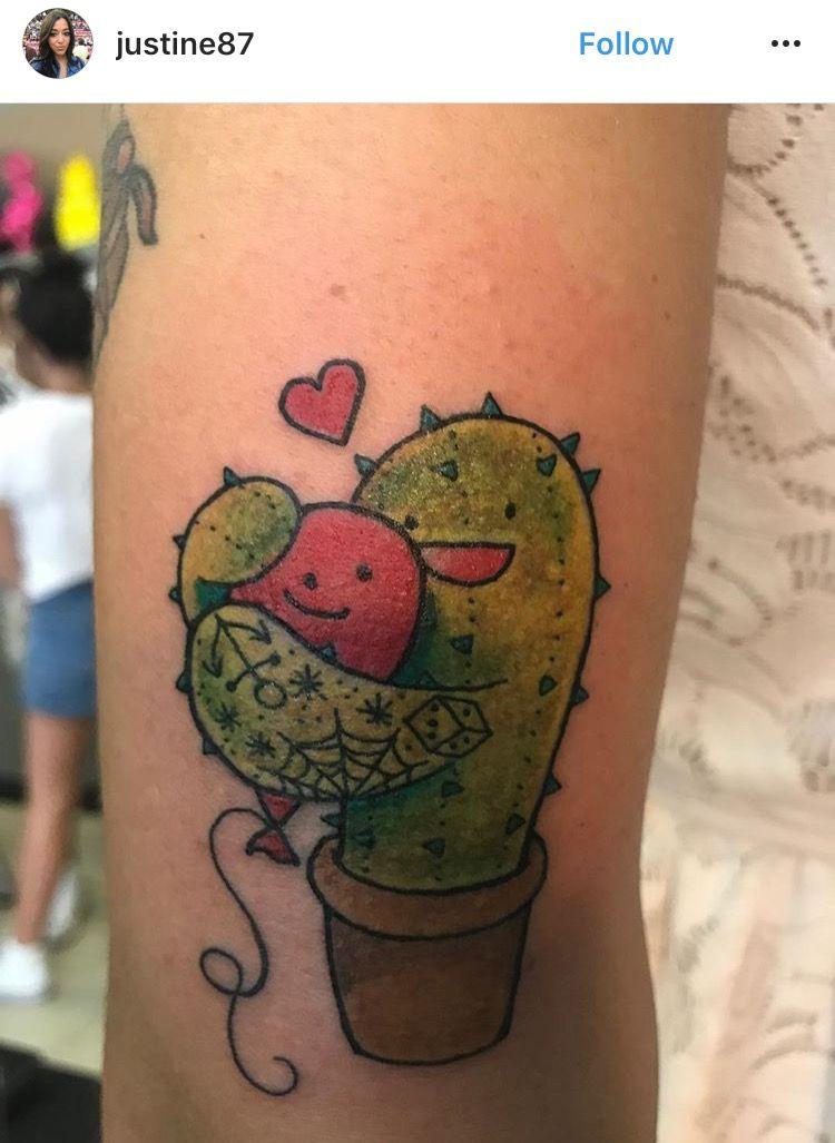 Small Simple Cactus Tattoo Designs (101)