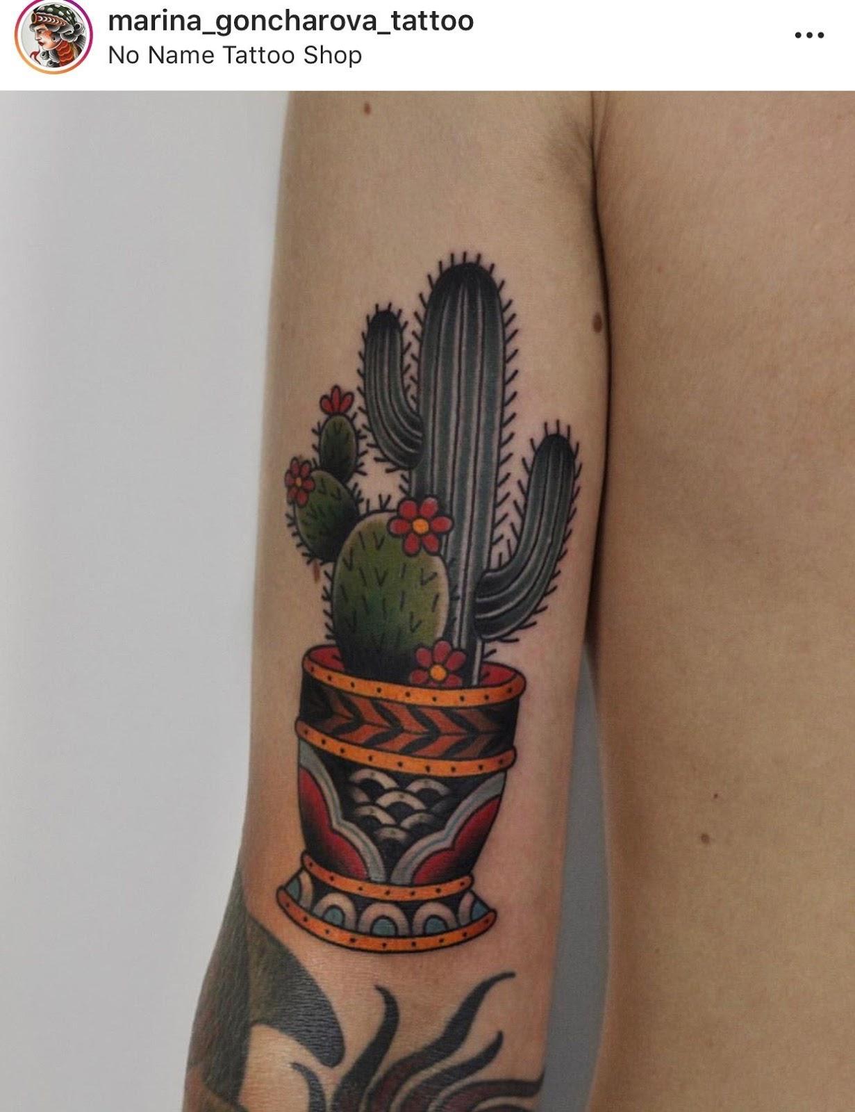 Small Simple Cactus Tattoo Designs (102)