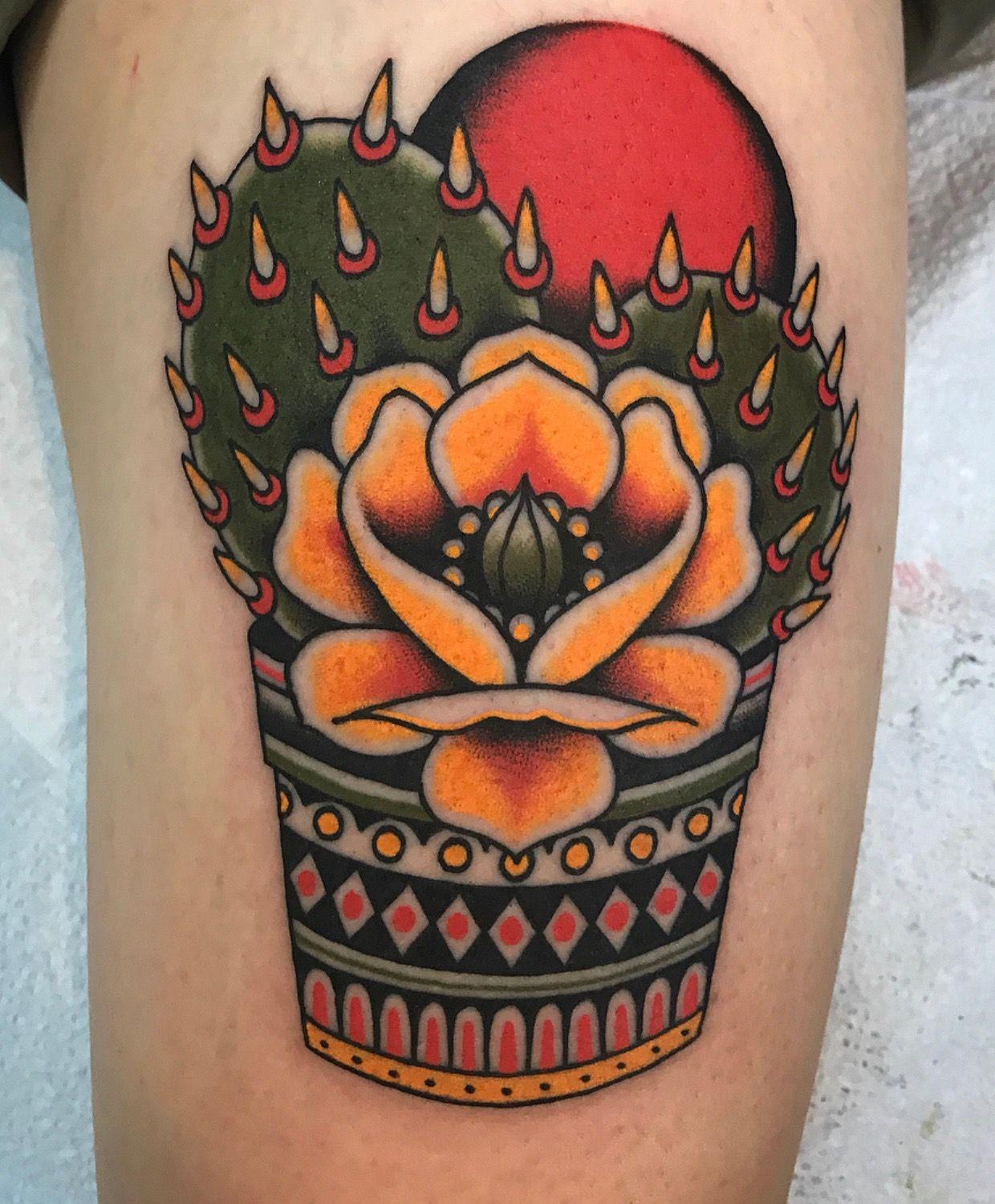 Small Simple Cactus Tattoo Designs (103)