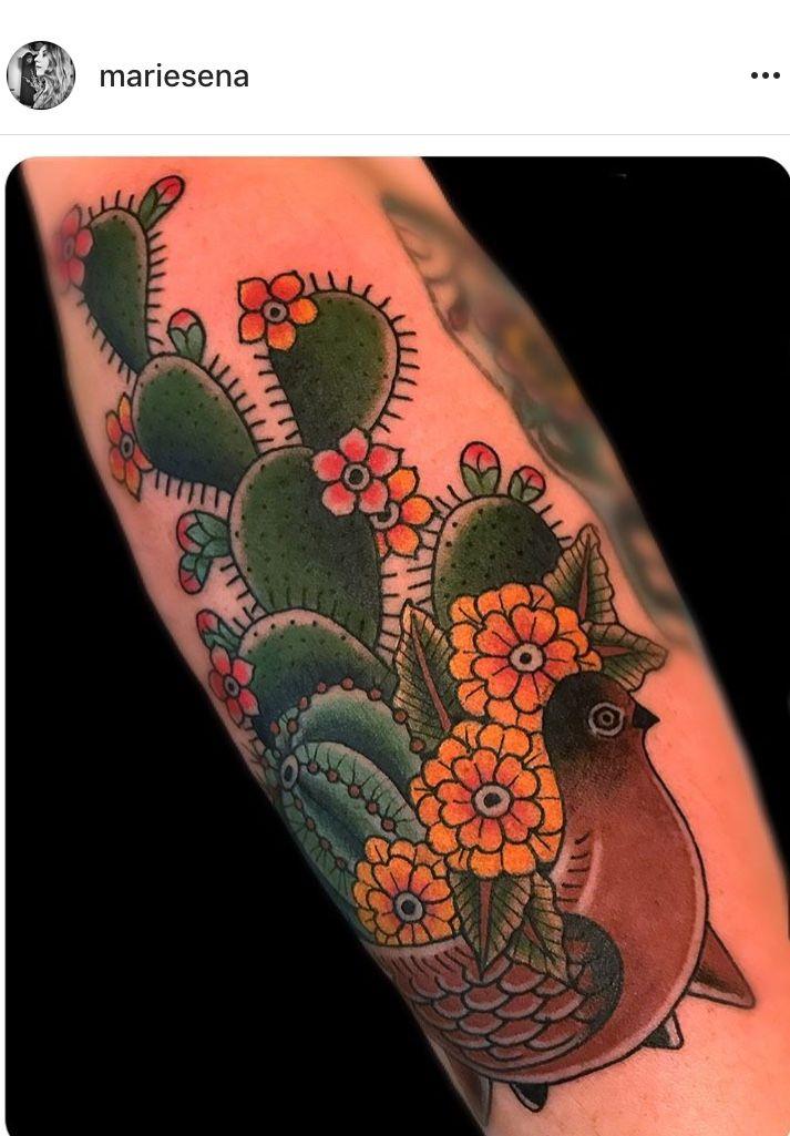Small Simple Cactus Tattoo Designs (160)