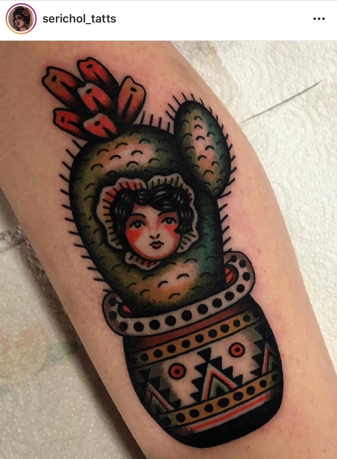 Small Simple Cactus Tattoo Designs (185)