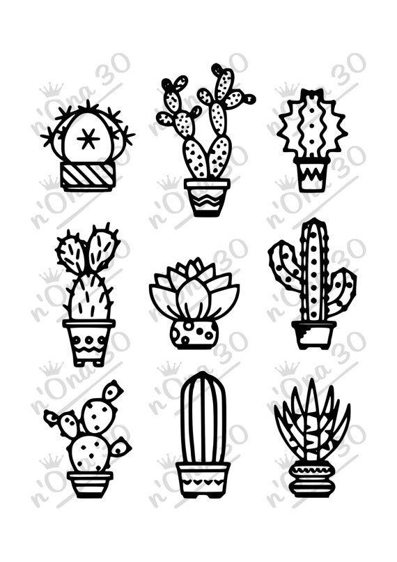 Small Simple Cactus Tattoo Designs (46)