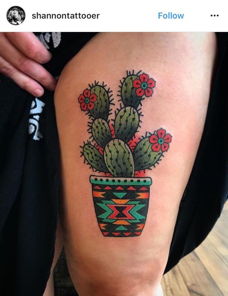 Small Simple Cactus Tattoo Designs (48)