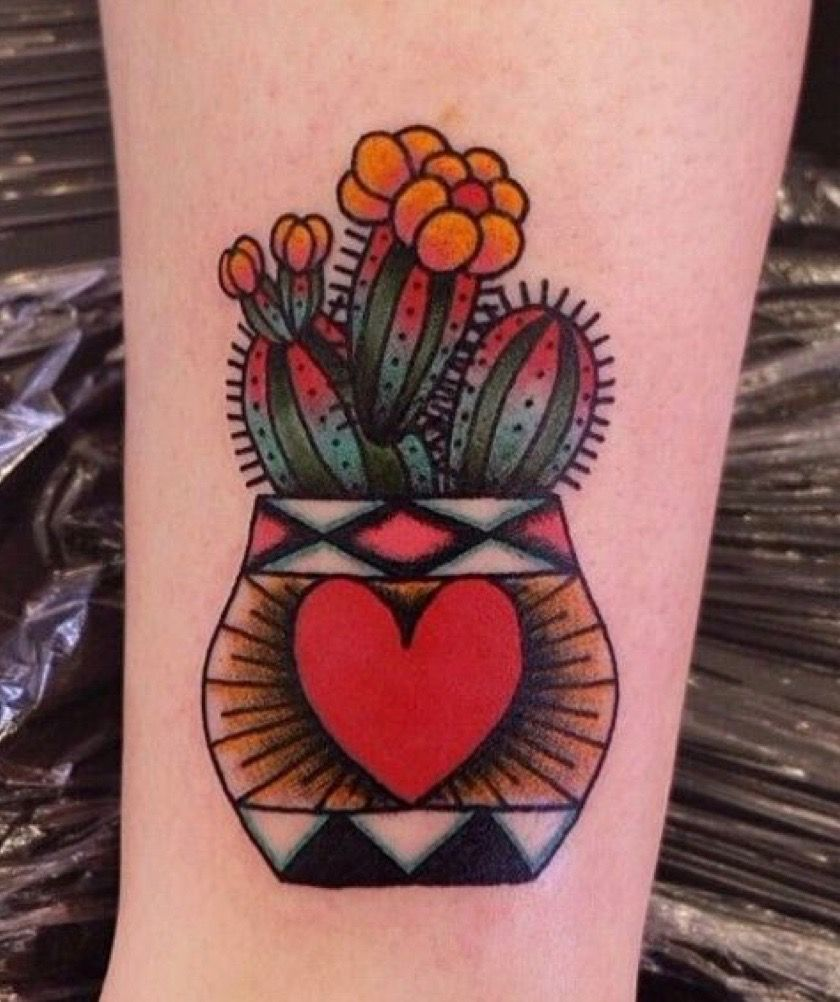 Small Simple Cactus Tattoo Designs (55)