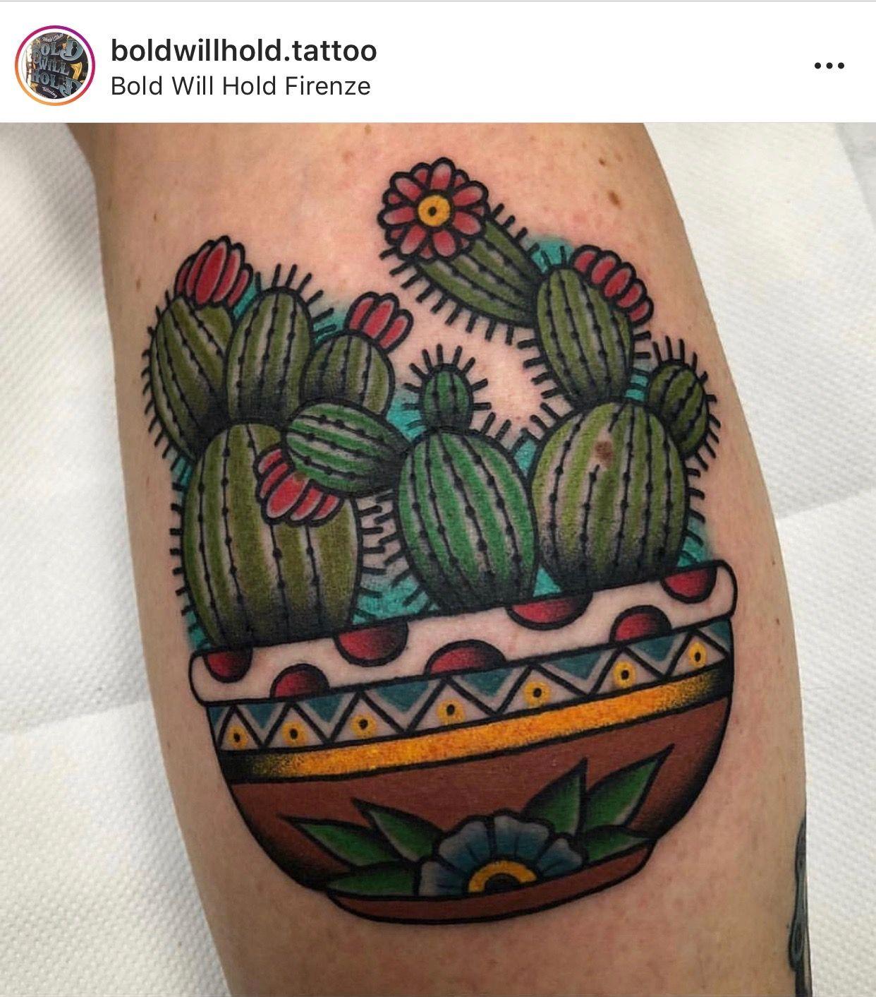 Small Simple Cactus Tattoo Designs (61)