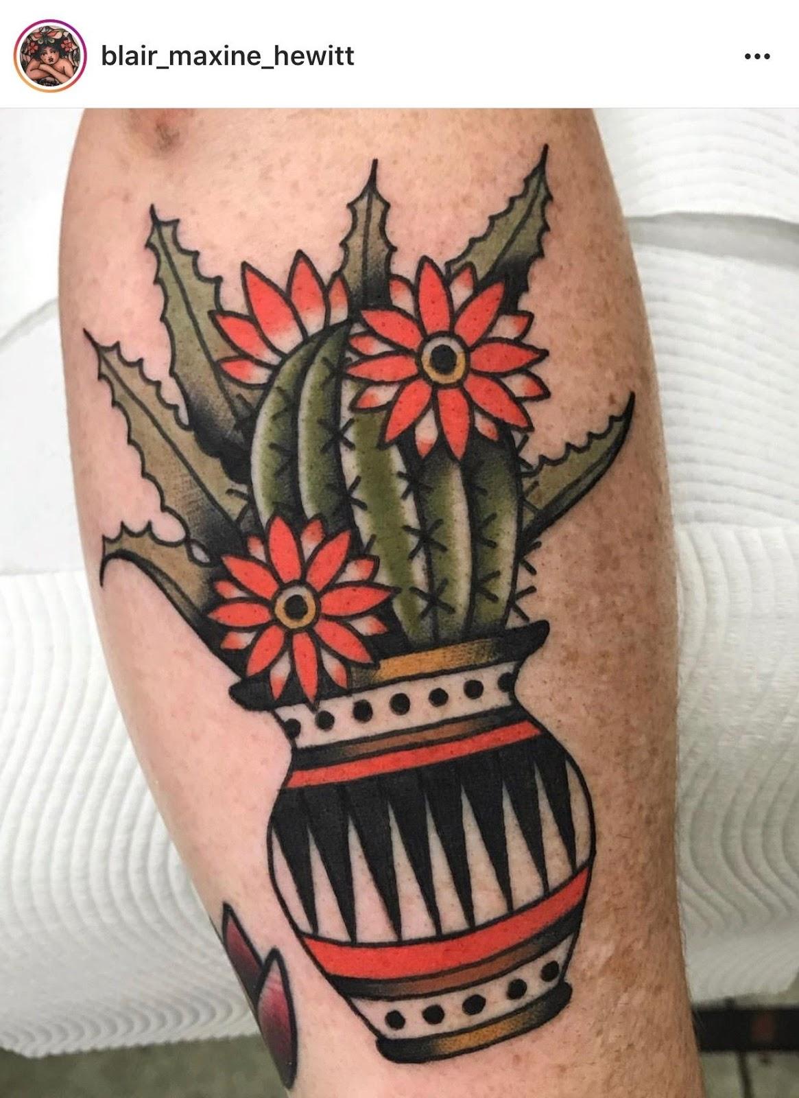 Small Simple Cactus Tattoo Designs (69)