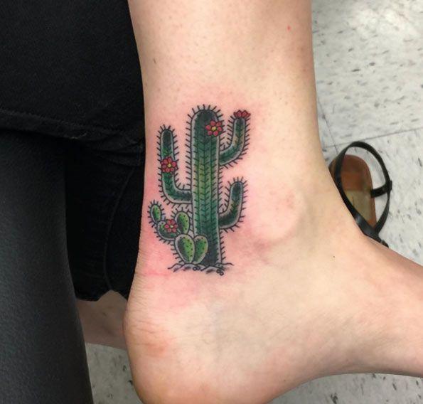 Small Simple Cactus Tattoo Designs (85)