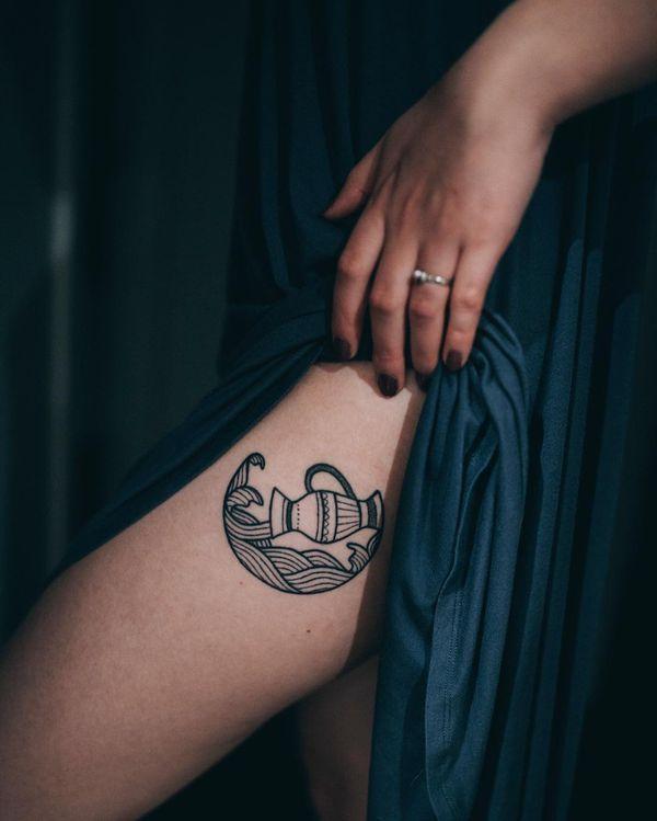 Aquarius Sign Tattoo Constellation Symbol (100)