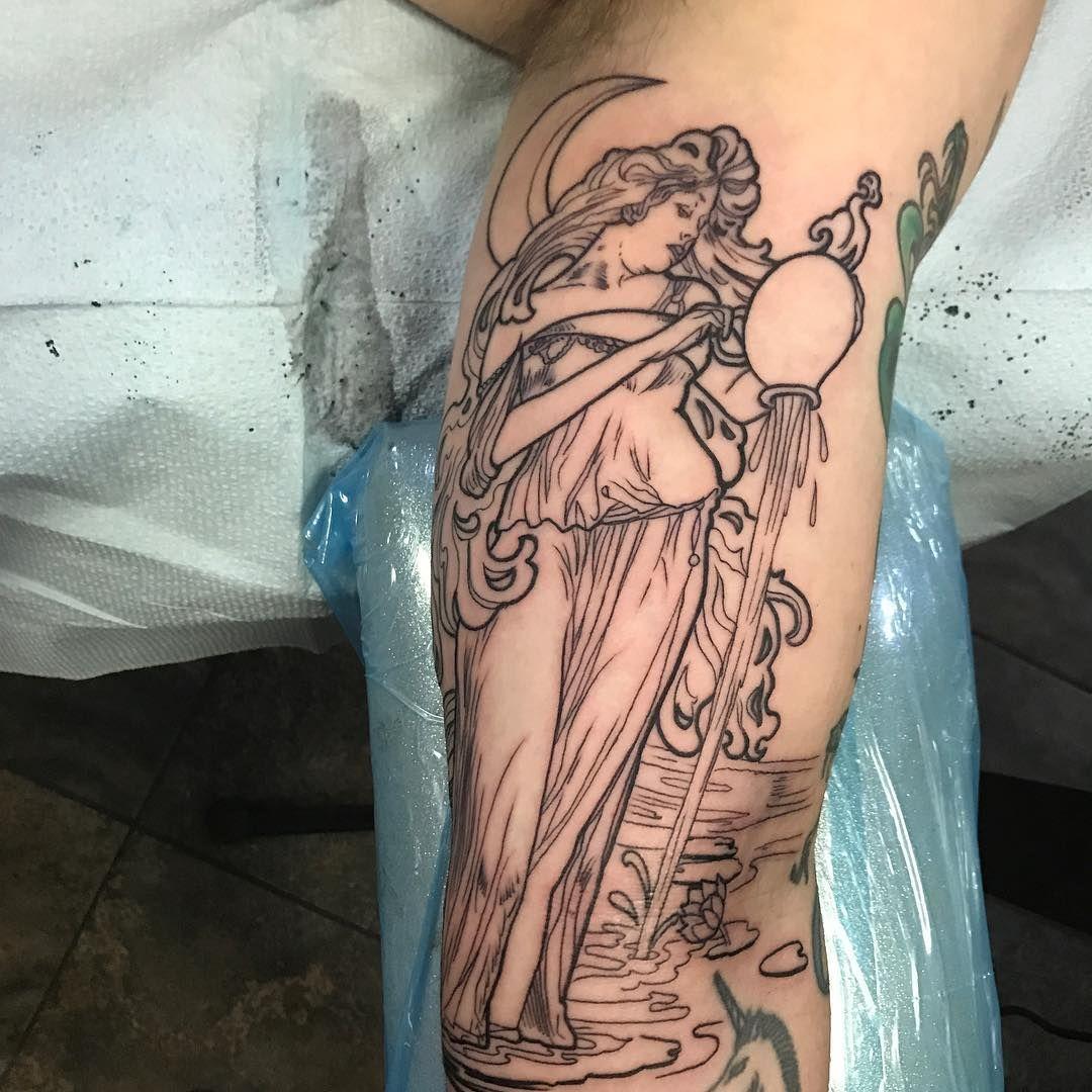 Aquarius Sign Tattoo Constellation Symbol (11)