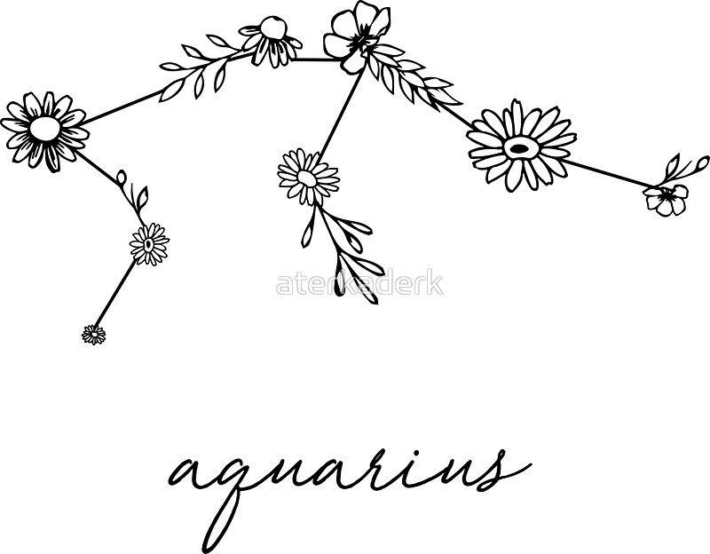 Aquarius Sign Tattoo Constellation Symbol (113)