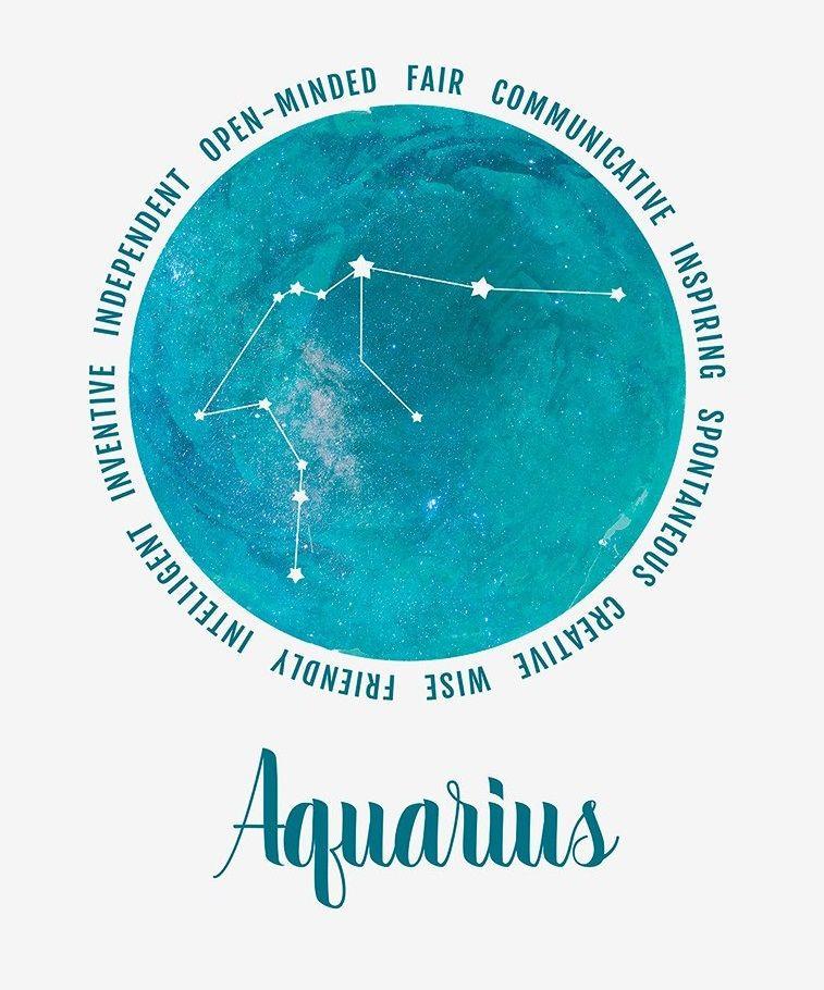 Aquarius Sign Tattoo Constellation Symbol (116)