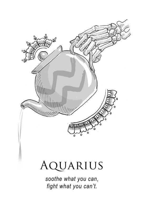 Aquarius Sign Tattoo Constellation Symbol (13)