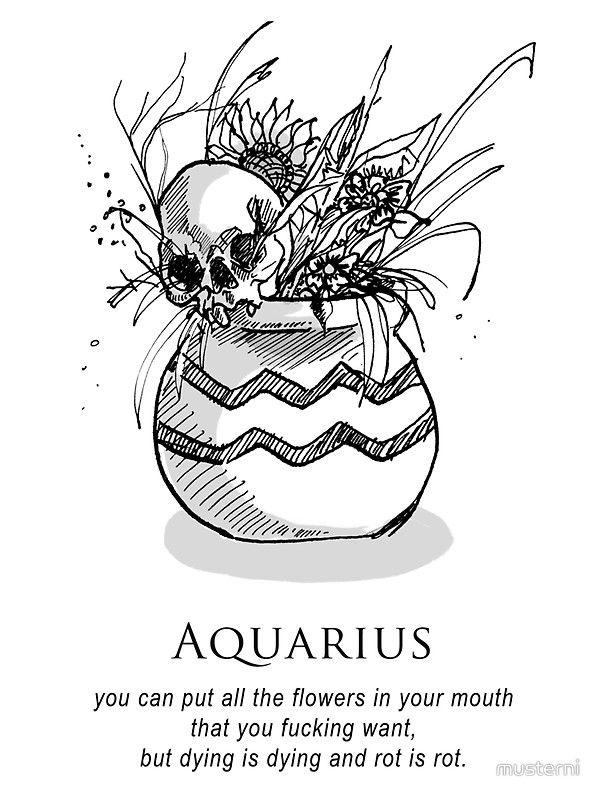 Aquarius Sign Tattoo Constellation Symbol (144)