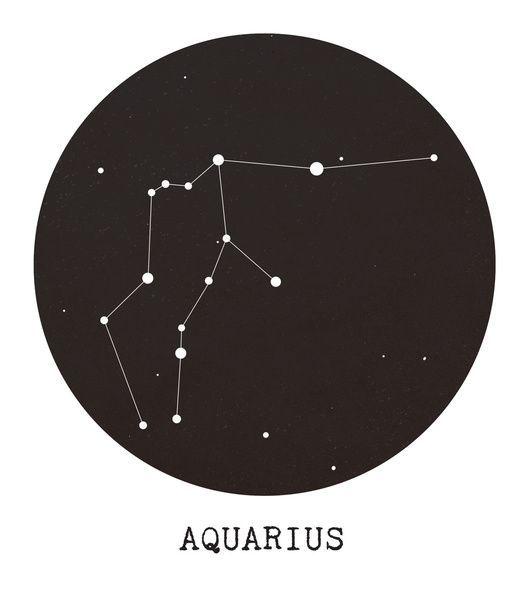 Aquarius Sign Tattoo Constellation Symbol (149)