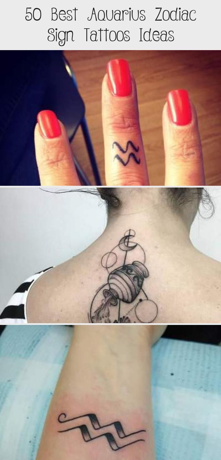 Aquarius Sign Tattoo Constellation Symbol (150)