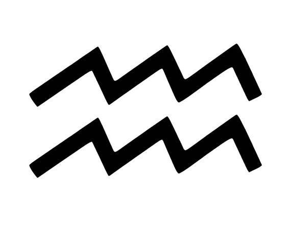 Aquarius Sign Tattoo Constellation Symbol (155)