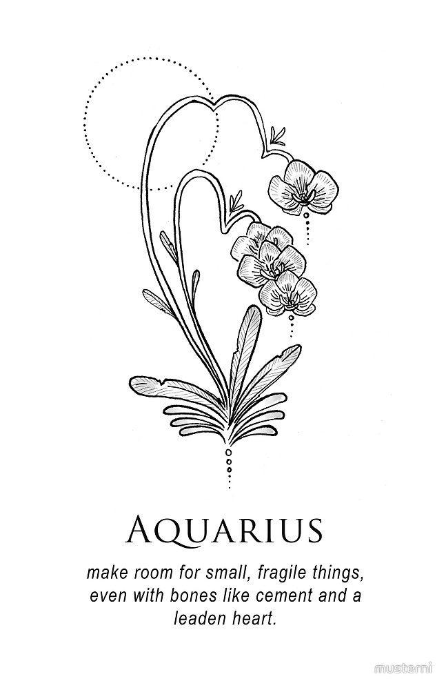 Aquarius Sign Tattoo Constellation Symbol (170)