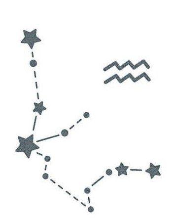 Aquarius Sign Tattoo Constellation Symbol (176)