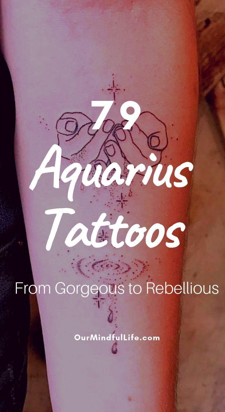 Aquarius Sign Tattoo Constellation Symbol (177)