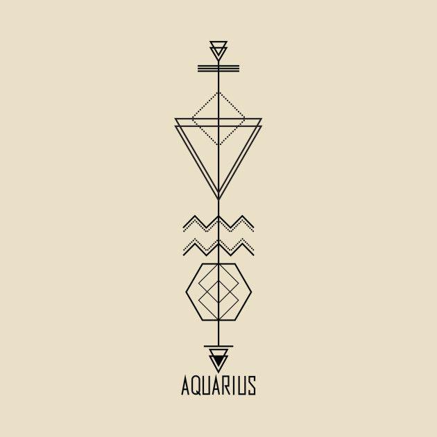 Aquarius Sign Tattoo Constellation Symbol (180)