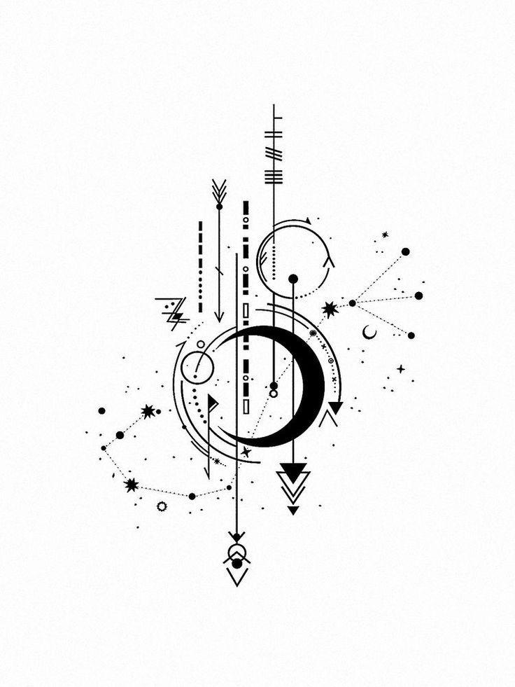 Aquarius Sign Tattoo Constellation Symbol (181)