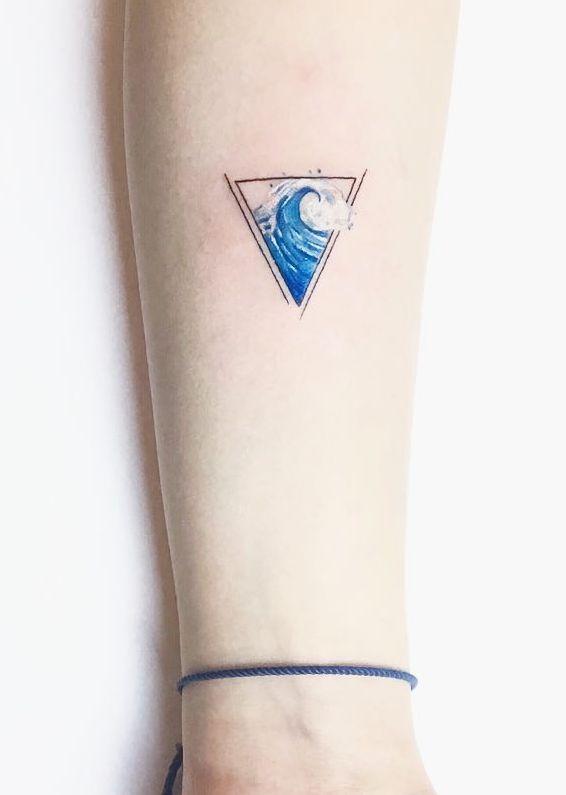 Aquarius Sign Tattoo Constellation Symbol (185)