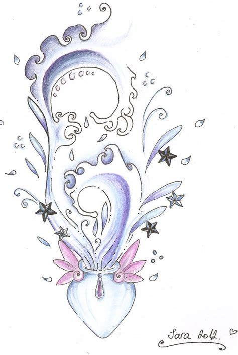 Aquarius Sign Tattoo Constellation Symbol (2)