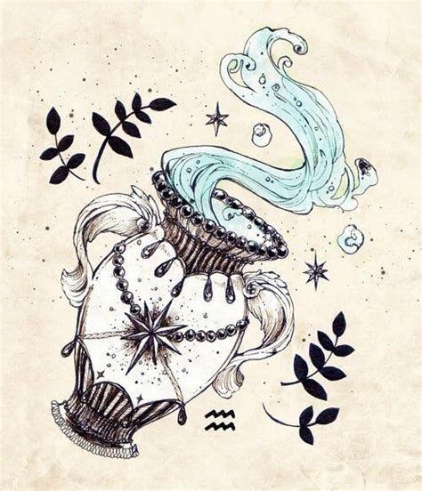 Aquarius Sign Tattoo Constellation Symbol (200)