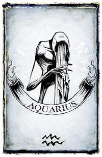 Aquarius Sign Tattoo Constellation Symbol (203)