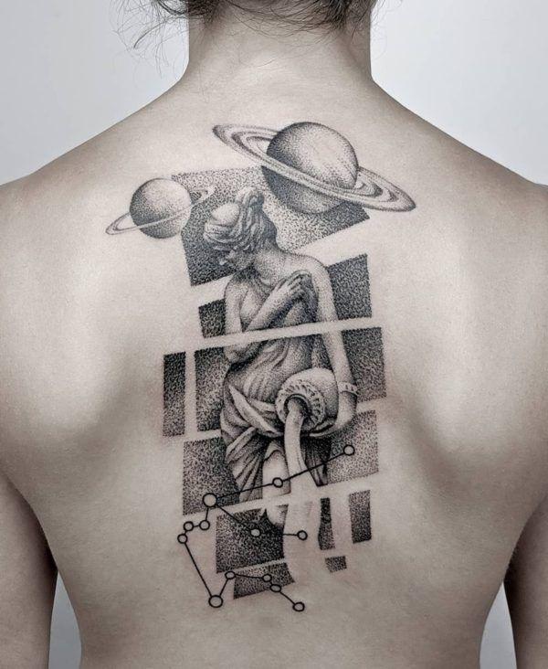 Aquarius Sign Tattoo Constellation Symbol (207)