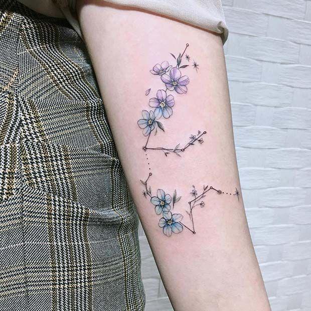 Aquarius Sign Tattoo Constellation Symbol (208)